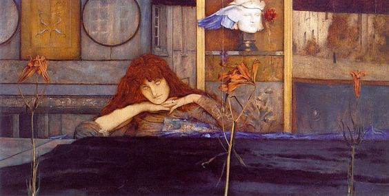 Fernand_Khnopff_I lock the door upon myself